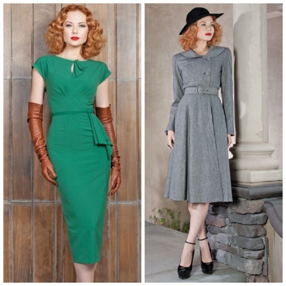 Stop Staring Dresses & Skirts - Stop Staring green 1940's dress M L